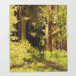 Woodland Landscape Nature Art Throw Blanket