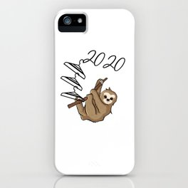 Sloth Hanging on to 2020 iPhone Case