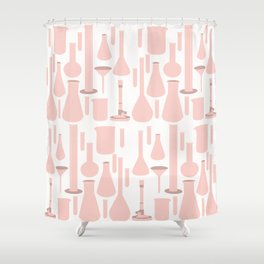 Pink Glassware Shower Curtain