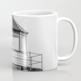 Doubling Point Lighthouse Bath Maine Kennebec River Light New England Nautical Black and White Coffee Mug