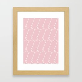 side boob in pink Framed Art Print