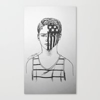 american beauty Canvas Prints featuring American Beauty/American Psycho by Katy Lawler