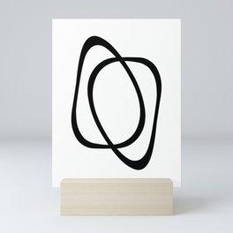 Interlocking Two - Minimalist Line Abstract Mini Art Print