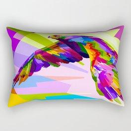 Colorful Eagle Illustration Rectangular Pillow