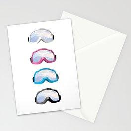 Skigoggles vector art Stationery Cards