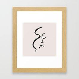 Elisa in Ink Framed Art Print