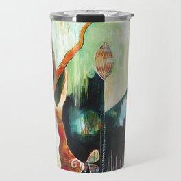 """Temple Lilies"" Original Painting by Flora Bowley Travel Mug"