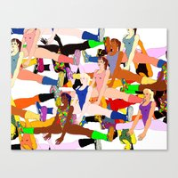 yoga Canvas Prints featuring Yoga by Jonny Negron