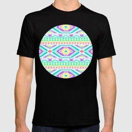 Aztec Geometric Print - Pastel bright colours T-shirt