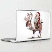 bouletcorp Laptop & iPad Skins featuring Père Noël Énervé / Angry Santa by Bouletcorp