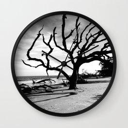 Driftwood Beach Wall Clock