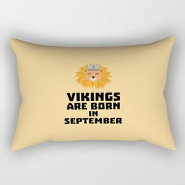 Vikings are born in September T-Shirt Doid8 Rectangular Pillow