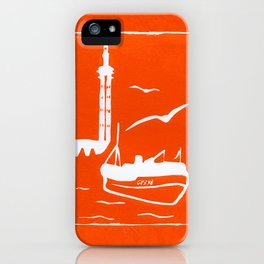 Home in Orange iPhone Case