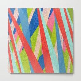 Mos Stripe Metal Print