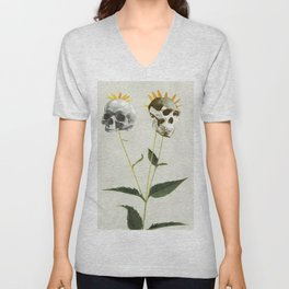 Skullflower Unisex V-Neck