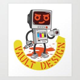 VAULT DESIGN BOT Art Print