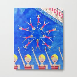 Synchronized Swimmers Metal Print