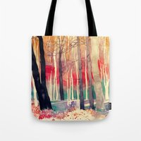 woods Tote Bags featuring Woods by takmaj