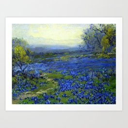 Meadow of Wild Blue Irises, Springtime by Maria Oakey Dewing Art Print