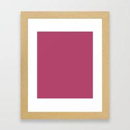 Irresistible - solid color Framed Art Print