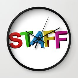 Colorful STAFF Wall Clock