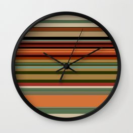 Calming Natural Color Palette Wall Clock