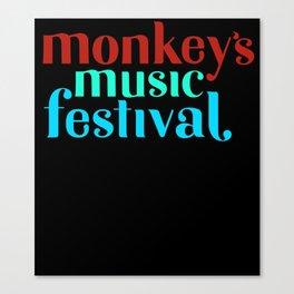 The Monkeys Festival Canvas Print