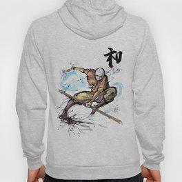 Aang from Avatar the Last Airbender sumi/watercolor Hoody