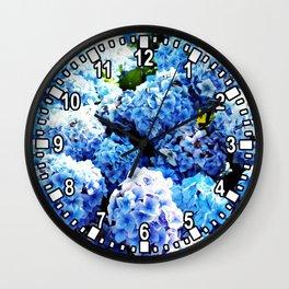 Blue flowers all summer  Wall Clock