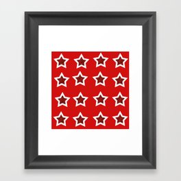 red star 6 Framed Art Print