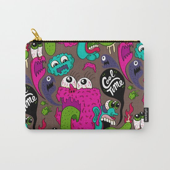 Cool Time Pattern Carry-All Pouch