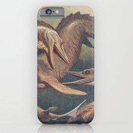 Mosasaurus and ichthyosaurus iPhone Case