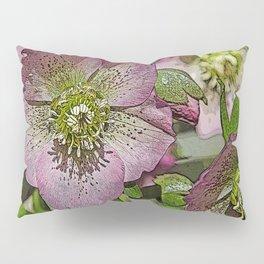 HELLEBORES FLOWERS Pillow Sham