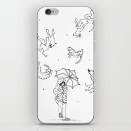 Its Raining Cats and Dogs  iPhone Skin