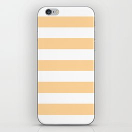 Caramel - solid color - white stripes pattern iPhone Skin