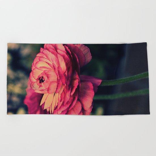 Vintage Ranunculus (10) Beach Towel