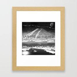 White Summer / Black Mountain Side Framed Art Print