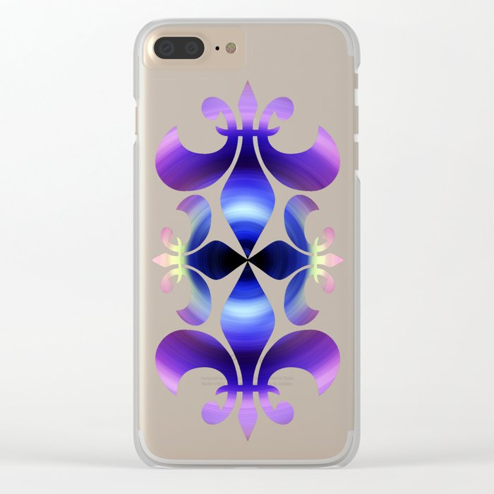Ultraviolet Swirl Clear iPhone Case