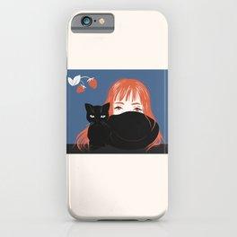 Hiding Behind a Black Cat iPhone Case