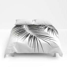 Black Palm Leaves Dream - Cali Summer Vibes #2 #tropical #decor #art #society6 Comforters