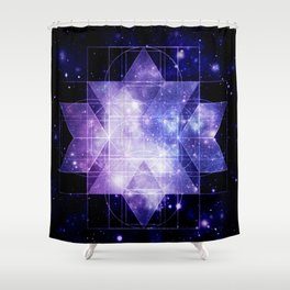 galaxy sacred Geometry Shower Curtain