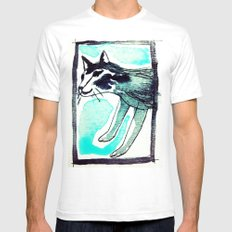 SAKE. White Mens Fitted Tee SMALL