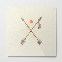 Crossed Arrows Metal Print