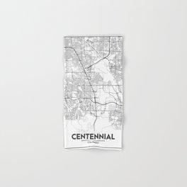 Minimal City Maps - Map Of Centennial, Colorado, United States Hand & Bath Towel