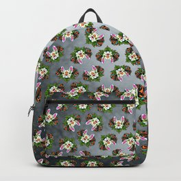 French Bulldog in White - Day of the Dead Sugar Skull Dog Backpack