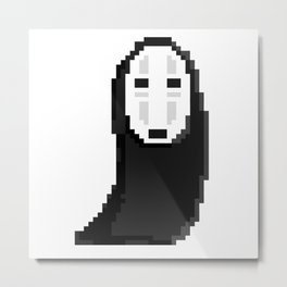 Kaonashiカオナシ (no face) pixel Metal Print