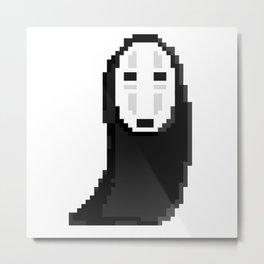 Kaonashiカオナシ (no face) pixel Metal Print