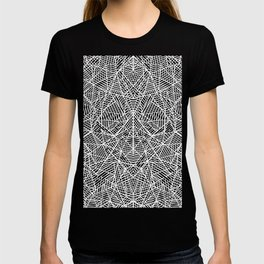 Abstract Lace on Grey T-shirt