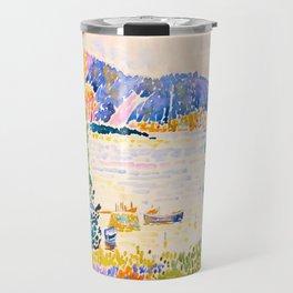 Henri-Edmond Cross Neo-Impressionism Pointillism Cap Nègre 1909 WatercolorPainting Travel Mug