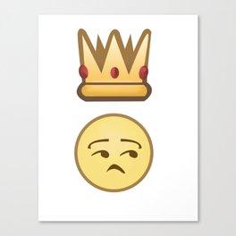 King/Queen Side Eye Emoji Canvas Print